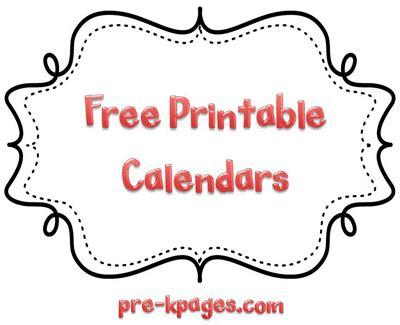 Kindergarten homework calendar template